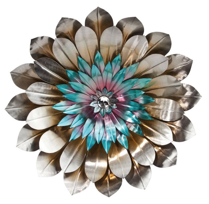 Mother 39 s day metal flowers online metals blogonline for How to make a flower wall hanging