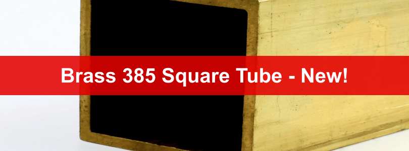 brass 385 square tube